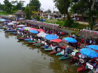 インド到着前エピソード3●ハジャイの水上マーケットとKL弦楽器展
