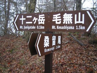 十二ガ岳~節刀ガ岳~鬼ガ岳