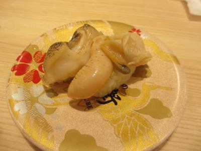 回転寿司で貝が動き回るのを初めて見たわ・・