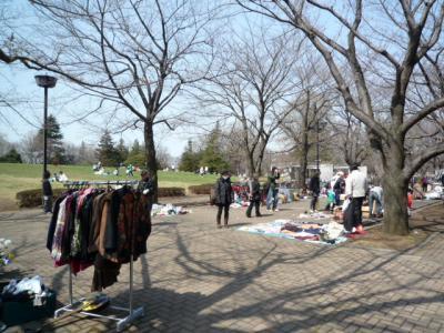 府中の森公園でフリーマーケット 2009/03/21