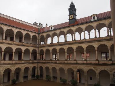 チェコの世界遺産④、ルネサンス様式の美しい宮殿、リトミシュル城