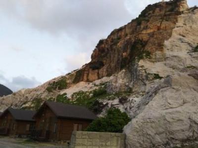 石灰岩がとってもきれいなキャンプ場でした。
