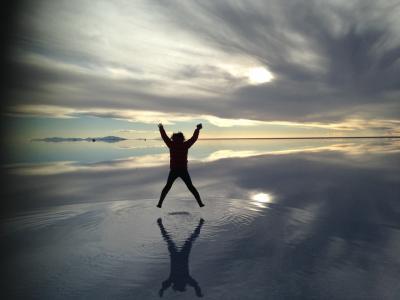 夢の世界一周(^з^)-☆ 感動のウユニ塩湖  4