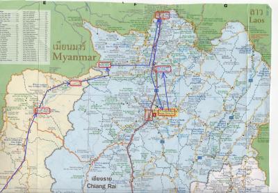 2016春・タイとラオスの北部野犬に吠えまくられの旅日記(10)チェンライ→メーチャン
