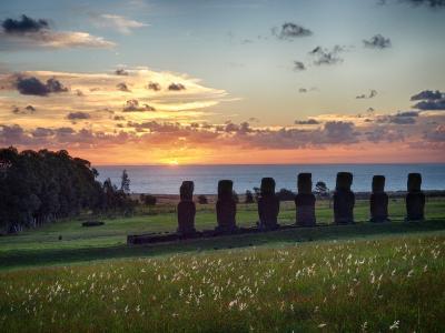 2016GW:念願のイースター島へ [その2:イースター島 前編] サンセットを堪能!