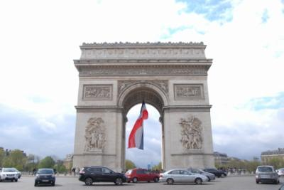 Paris * オランジュリー美術館~シャンゼリゼ通り~凱旋門~エッフェル塔