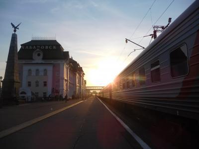オケアン号で、ハバロフスクからウラジオストックへ。