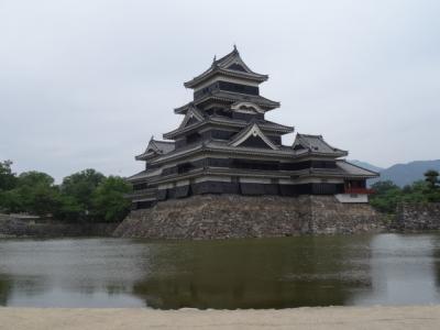 松本城へ朝の散歩40分
