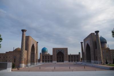 2016GWウズベキスタン一人旅 4日目*青くて碧い都サマルカンド*