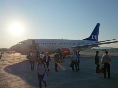 ストックホルムからオスロまでボーイングB737-600に乗りました。