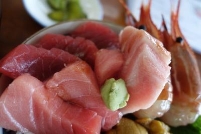 20160615 大間 まぐろモニュメントとか、本州最北端の碑とか。と、海峡荘さんのトッピング丼。と、開運丸さんのマグロの珍味三種