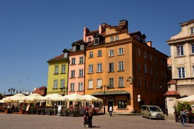ワルシャワの街並み。