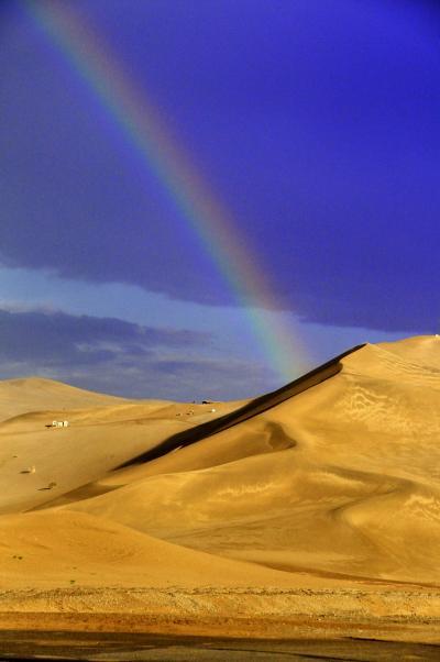 3度目の中国 烏魯木斉~トルファン~敦煌~洛陽への旅 vol.7 敦煌 鳴沙山で虹を見た