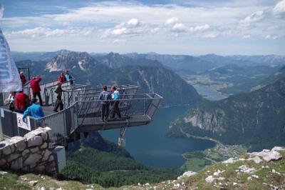 ダッハシュタインでアイスケーブとハルシュタット湖がキレイに見えるファイブフィンガーズへ、