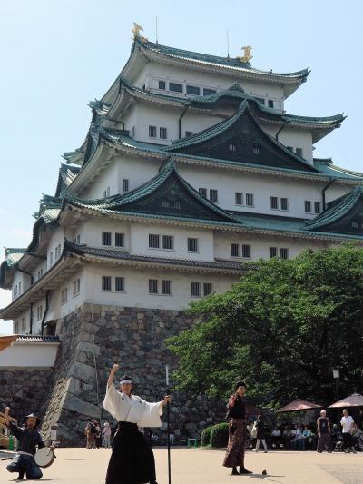 名古屋-4 名古屋城c おもてなし武将隊登場 ☆二之丸広場で演武