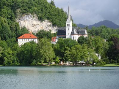 クロアチア、スロベニア他10日間、リベンジの旅 1 ( 雨上がりのブレッド湖は美しかった ① )