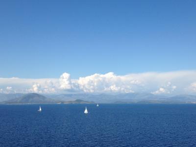 オーシャニア・リビエラ地中海クルーズvol.19 埠頭を渡る風~ ケルキラの港.♪。.:*☆