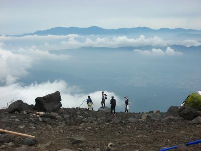 '16 初めての富士登山は大雨だった