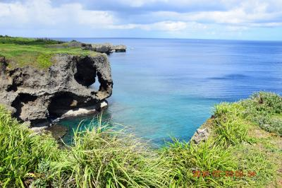 【2日目-2】 快晴に恵まれた沖縄本島FLY&DRIVE 沖縄を代表する絶景観光スポットの万座毛