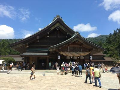 メタボも関係なし! 彦根~出雲~松江 食べ飲み・神社参拝・お城見学一人旅 2016年7月
