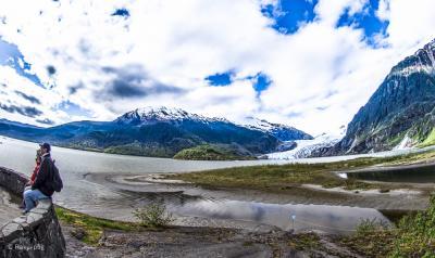 アラスカ・ ジュノー・ 氷河 温暖化 before after