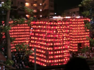 久喜提灯祭り 天王様 夜の部