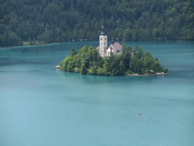 クロアチア、スロベニア他10日間リベンジの旅 2 ( 雨上りのブレッド湖は美しかった ② )