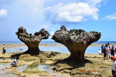 【2日目-3】 快晴に恵まれた沖縄本島FLY&DRIVE  本島絶景№1の古宇利大橋とCMで有名になったハートロックがある古宇利島