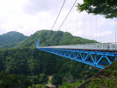 袋田の滝でマイナスイオンを独り占め③【竜神大吊橋】