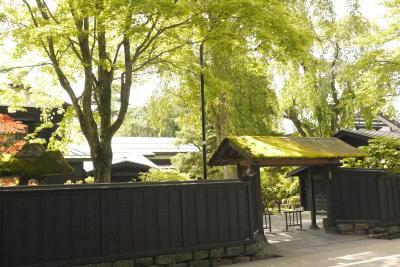 みちのくの小京都・角館の隠れ家温泉「侘桜(わびざくら)」にて、夏の緑と露天風呂を楽しむ。