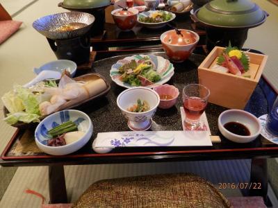 黒部ダム①4ホテル夕食朝食