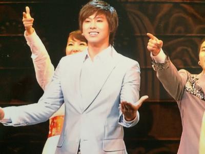 息子は初訪韓でユノのミュージカル観劇に行きました。