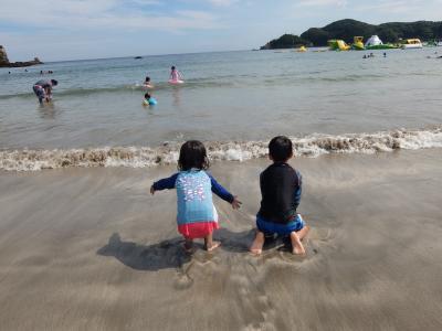海遊び満喫の弓ヶ浜
