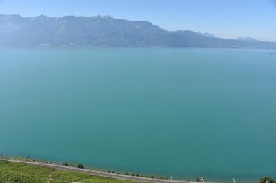 スイス・イタリア旅行2016 (1)  レマン湖   湖畔でファミリーハイキング