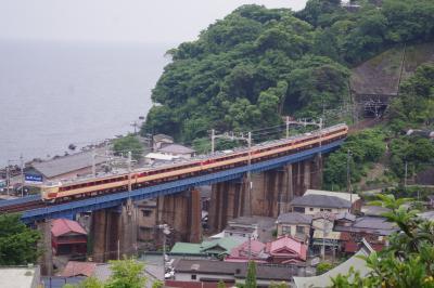 さよなら 名車485系 早川 石橋鉄橋で見送る