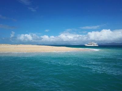 2016夏休みファミリーでケアンズ!3日目グレートバリアリーフの無人島へ!