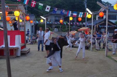 子ぎつねが踊る、姫島の盆踊りに行ってきた。