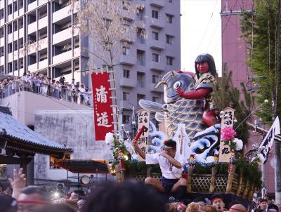 これぞ日本の祭り 博多祇園山笠!男の祭り!いいえ親子家族絆の祭りです!4 山笠発祥の地「承天寺」で山笠見物です。