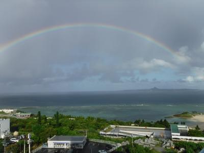 台風近づく沖縄へ親子2人旅①
