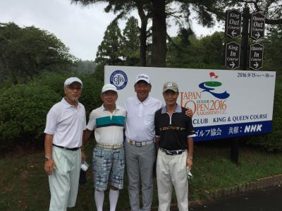 台湾のシニアプロと「習志野カントリー倶楽部」クイーンコースでラウンドしました。
