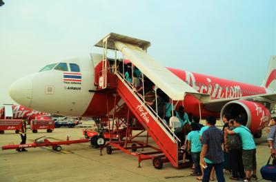 タイ実家訪問とミャンマーの旅 Part 11 - タイエアアジア バンコク → ハートヤイ