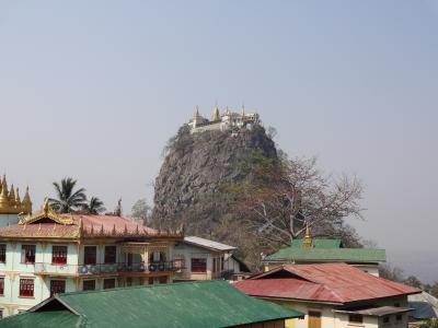 東南アジアバックパッカーの旅☆ Bagan Day2 Mt.Poppa