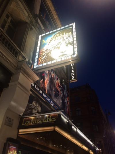 イギリス:UK2016-London(ロンドン)-5~レミゼラブル(Les Misérables at the Queen's Theatre)他~