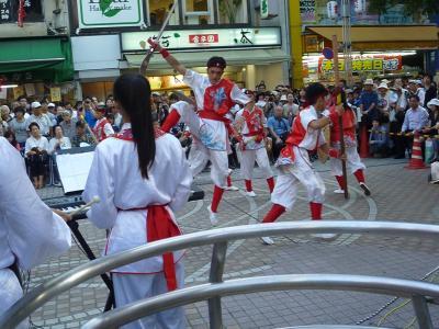 八王子祭りで高雄内門宋江陣 武術演舞 2012/08/03-04