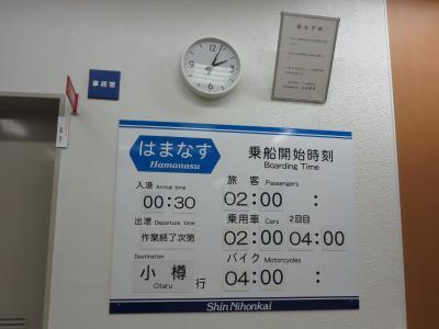 9月1日:台風10号と新日本海フェリー