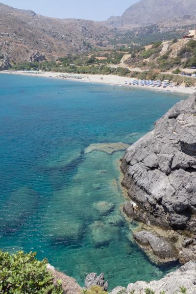 【約3週間のクレタ島でのバカンス】クレタ島南海岸のプラキアスとリビア海のユニークなビーチへ