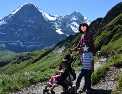 スイス・イタリア旅行2016 (5) メンリッヒェン〜クライネシャイデック: ファミリーハイキング
