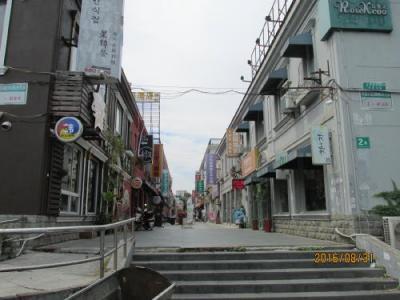 上海の辛庄・从从家園商業歩行街・住宅街に隣接