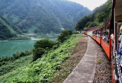 立山黒部アルペンルートと黒部峡谷鉄道トロッコ電車の旅 その3 宇奈月、黒部峡谷