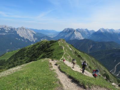 チロル・ドロミテ・ザルツカンマーグート10日間の旅の思い出⑰ゼーフェルダー・シュピッツエ迄の稜線ハイキング